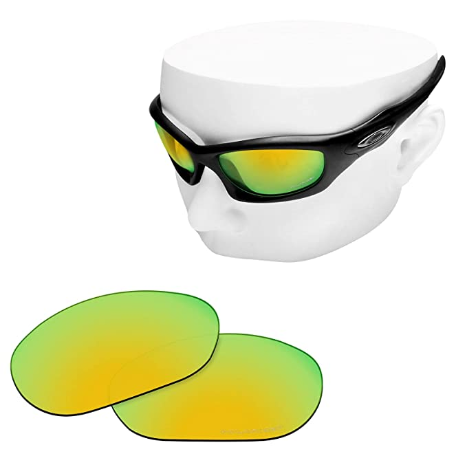 98c8d97fb5 OOWLIT Replacement Lenses Compatible with Oakley Monster Dog Sunglass 24K  Combine8 Polarized