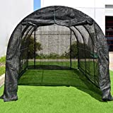 Strong Camel New Hot GreenHouse Large Walk-In BLACK Greenhouse Outdoor Plant Gardening (12'X7'X7′)