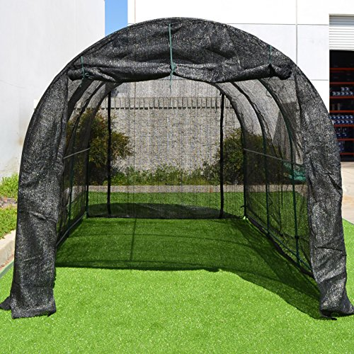 Strong Camel New Hot GreenHouse Large Walk-In BLACK Greenhouse Outdoor Plant Gardening (12'X7'X7') by Strong Camel
