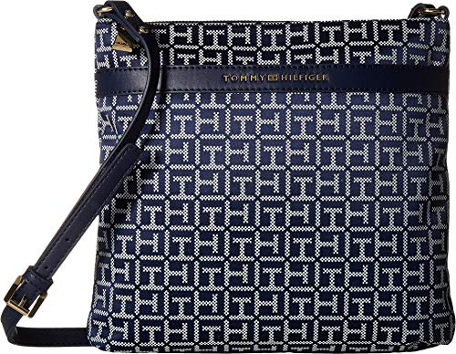 Tommy Hilfiger Womens Abington Large North/South Crossbody Navy/White One Size