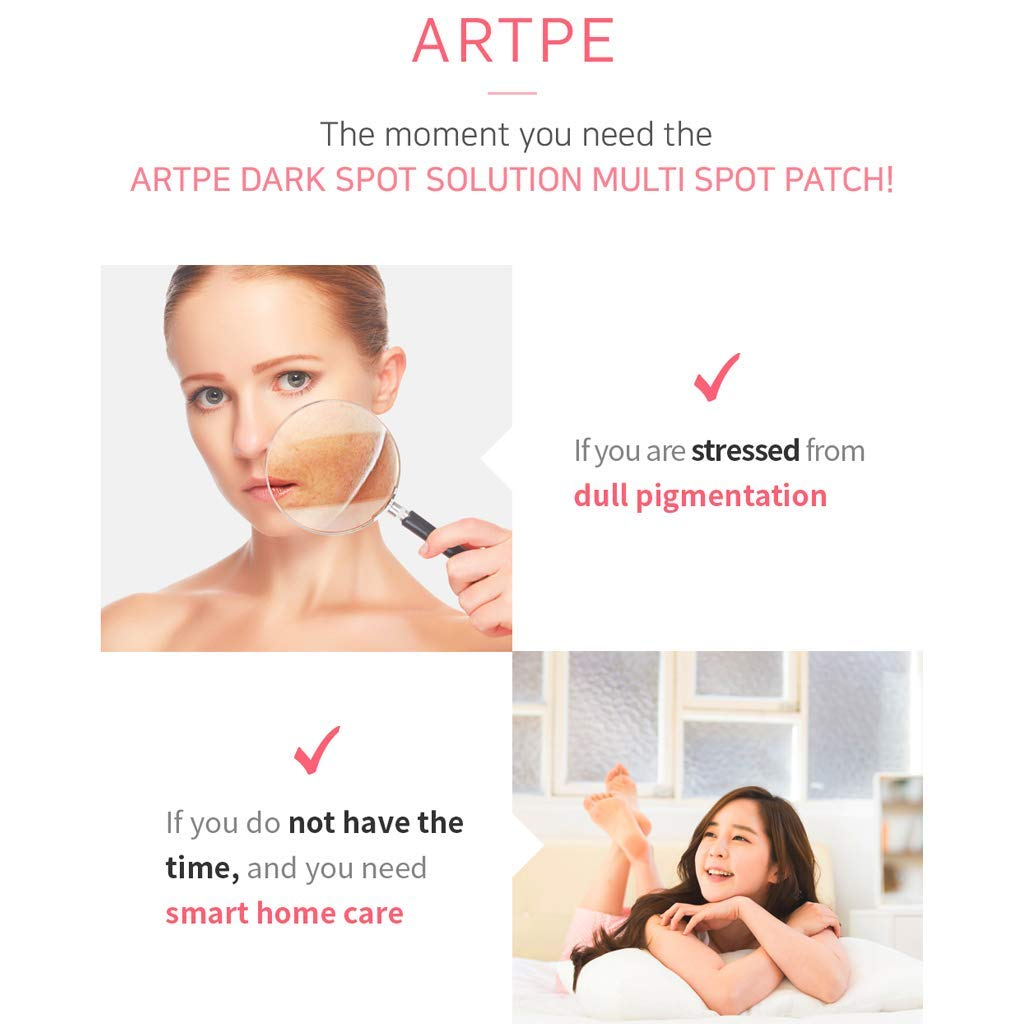 ARTPE Dark Spot Solution Multi Spot Patch 8pcs (Total 16 Patch)- 1.02 inch Microneedles Skin Brightening Patch for Dull Skin, Strong Absorbency, Vitamin Tree Fruit Extract & Niacinamide by Artpe (Image #6)
