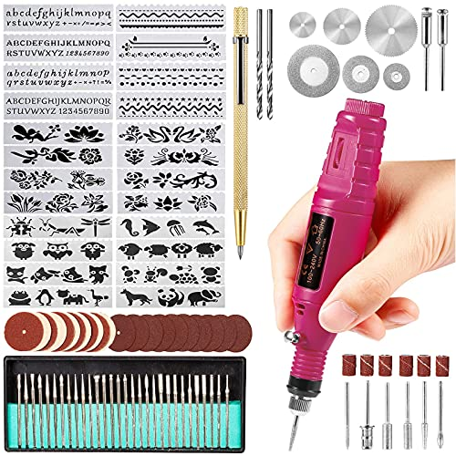 Uolor 108 Pcs Engraving Tool Kit, Electric Corded