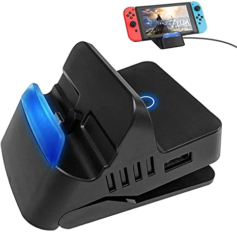 Base para TV Nintendo Switch, leegoal Estación de acoplamiento de interruptor portátil, Adaptador compacto a adaptador HDMI con puerto USB 3.0, Base de carga de repuesto para Nintendo Switch: Amazon.es: Videojuegos