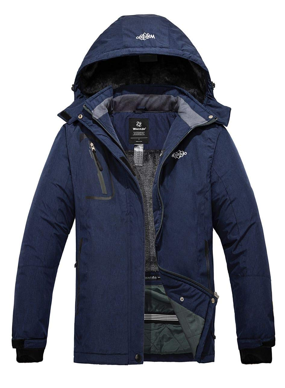 Wantdo Women's Mountain Waterproof Ski Jacket Windproof Rain Jacket Blending Navy Medium by Wantdo