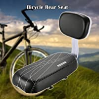 Lixada Bicycle Back Seat Cycling Bike Bicycle MTB PU Leather Soft Cushion Rear Rack Seat Children Seat with Back Rest