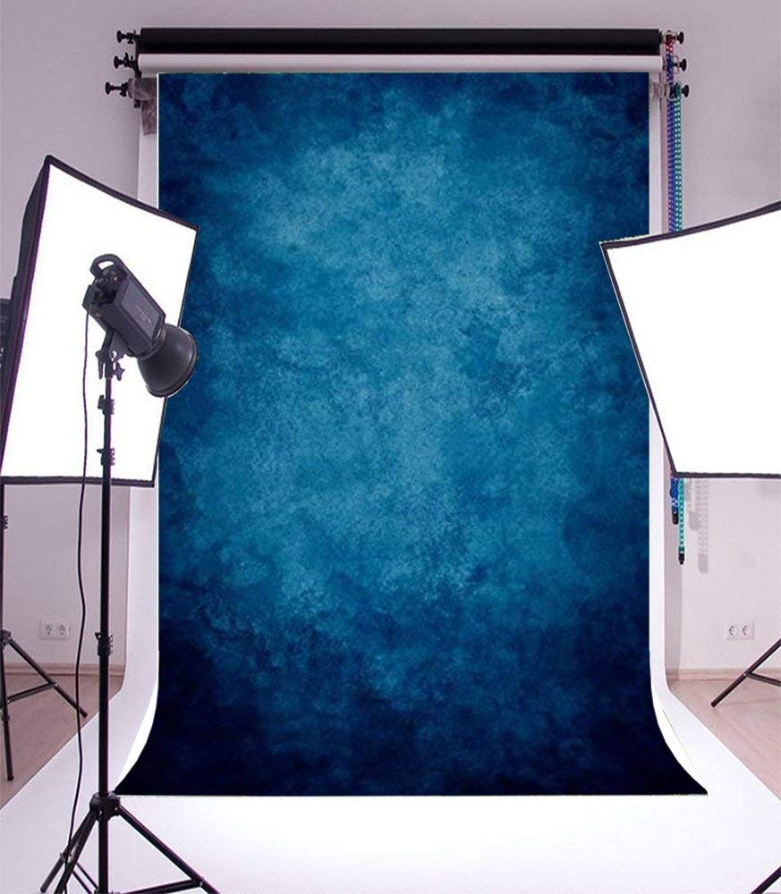 3x5ft Thin Vinyl Lfeey Photo Background Printed Photography Dreamy bluee Theme Solid color Backdrop for Studio Props