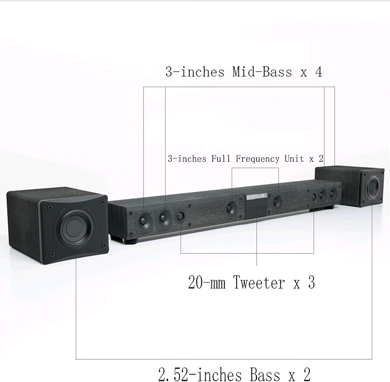 CAV TV Soundbar Speakers with Subwoofer Surround Sound 5.1 Channel ...
