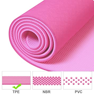 Grueso Antideslizante Yoga Mat, TPE Eco Friendly extrema ...
