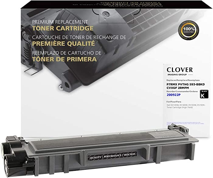 CLOVER Remanufactured Toner Cartridge for Dell P7RMX, PVTHG, 593-BBKD, CVXGF, 2RMPM, 593-BBKC | Black
