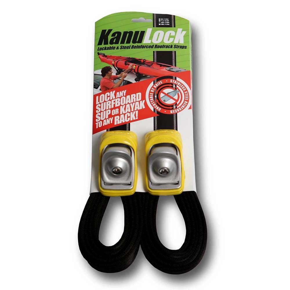 Kanulock Lockable Reinforced Stainless Steel Tie Down Straps 11 Foot