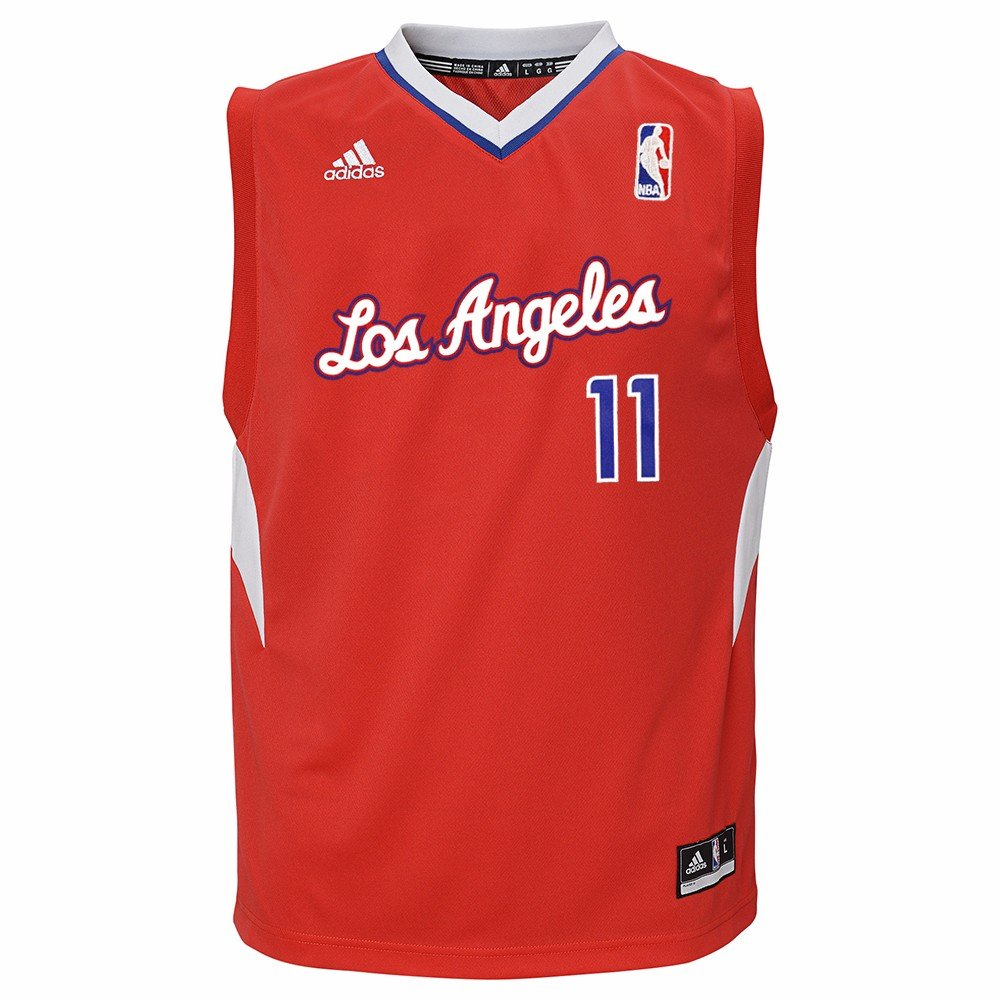 db71318aa Amazon.com   adidas Jamal Crawford Los Angeles Clippers NBA Boys Red  Official Road Replica Basketball Jersey   Sports   Outdoors