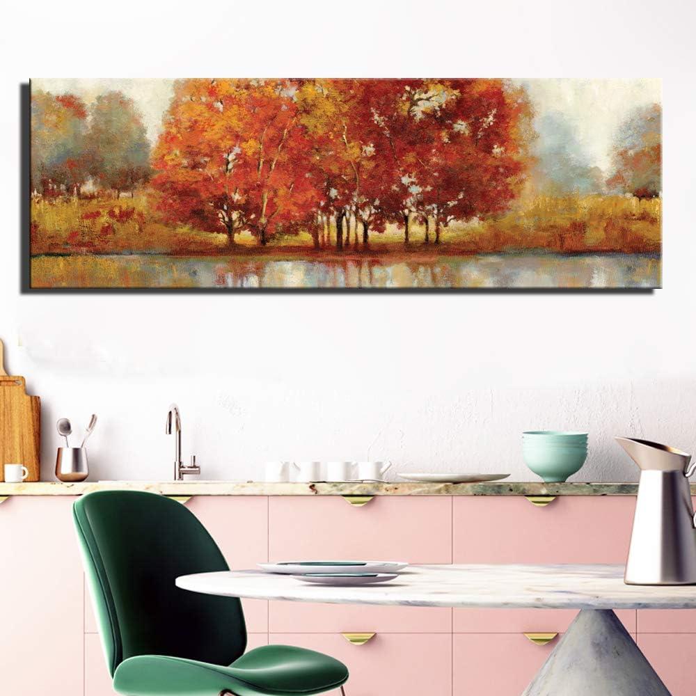 YHZSML Graffiti Abstracto Carteles e Impresiones de Pared Tamaño Grande Color Claro Paisaje Imágenes Cuadro Lienzo Pintura para Sala de Estar Pared 3 30x90cm