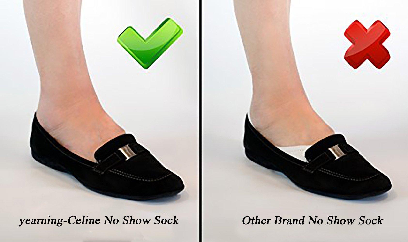 Women No Show Socks Cotton Liner Socks Non-Slip No Show Socks Low Cut Boat Socks 5-Pairs by Ayiran (Image #4)