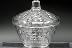 Sugar Bowl Clear Glass Candy Box with Lid Elegant Cookie Jar Covered Storage Dish Volume 11.25 oz and height 4.48 inches Dishwasher Safe Made in Turkey (Artemiss1)