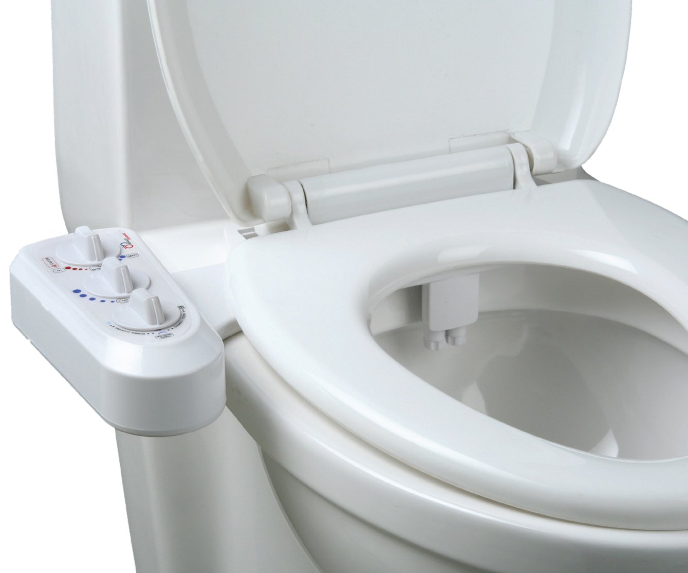 Jumbl BI-003 Self Cleaning Hot and Cold Water Bidet - Dual Nozzle (Male & Female) - Non-Electric Mechanical Bidet Toilet Attachment - With Adjustable Water Pressure and Temperature
