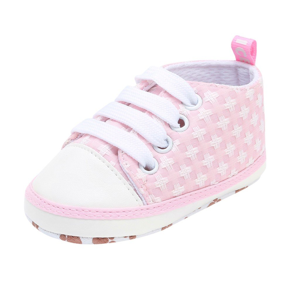 HOSOME Baby Casual Shoes Newborn Toddler Solid Soft Sole Shoes Pink