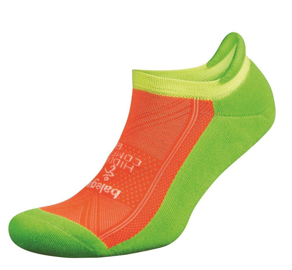 Balega Hidden Comfort No-Show Running Socks for Men and Women (1 Pair), Multi Neon, Medium