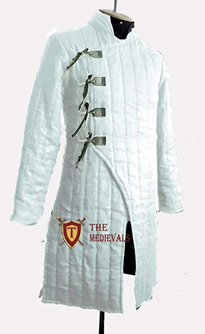 Details about  /Blue Thick padded Gambeson Halloween Medieval Jacket Armor COSTUMES
