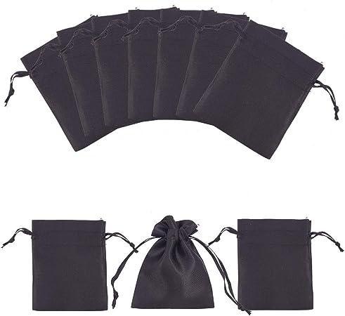 ein Säckchen Tasche Beutel Schmuckbeutel Leder schwarz Naturmaterial kl Tasche