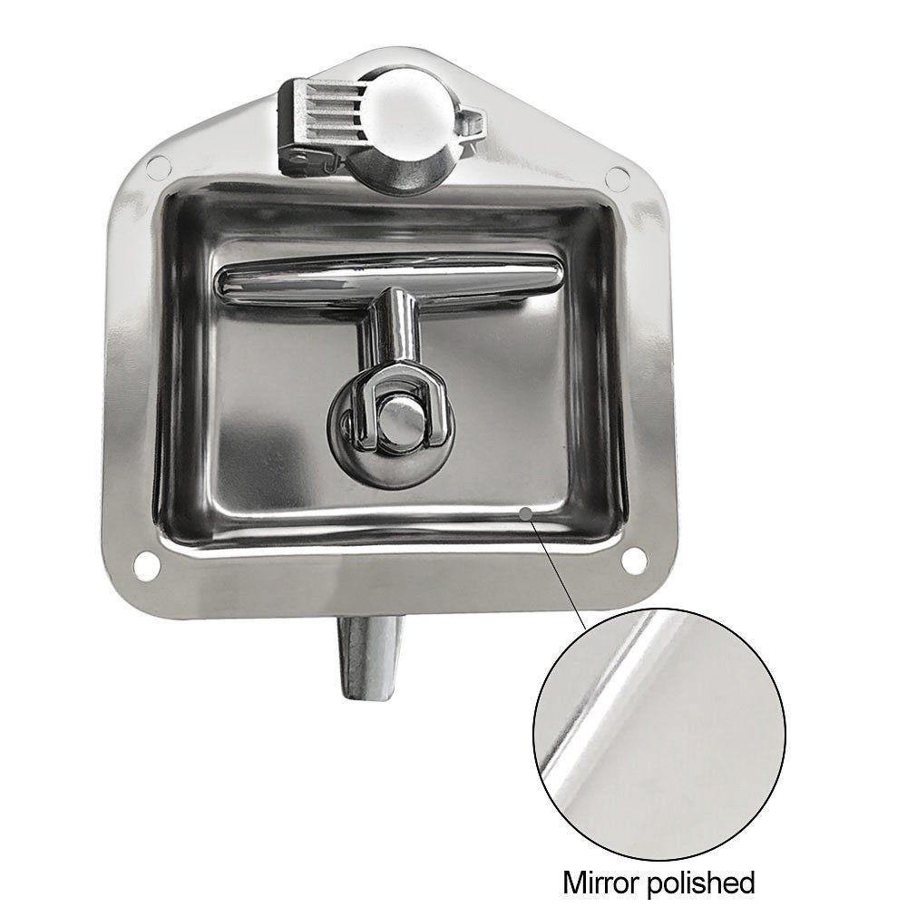 Ninth-City Car Truck Trailer Camp Stainless Steel Folding T Shape Handle Lock Tool Latch by Ninth-City (Image #4)