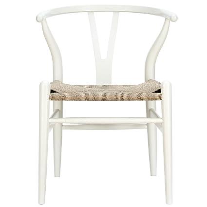 Replica Hans Wegner Wishbone Chair White