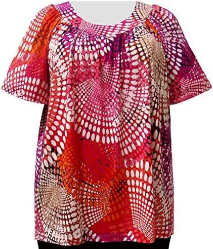 A Personal Touch Fuchsia Kaleidoscope Women's Plus Size Top