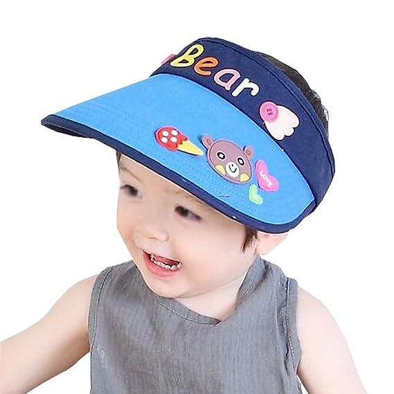 SPF 50+ UV Protection Sun Visor Hat Children Beach Hat Baby Child Summer Hat  Cute 50fc12794e7