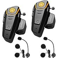 ENCHICAS 2x BT S2 Intercomunicador Casco Moto Manos Libres Auriculares Sistema de Comunicación por Bluetooth para Motocicletas