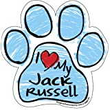 Imagine This Scribble Paw Magnet, Jack Russell
