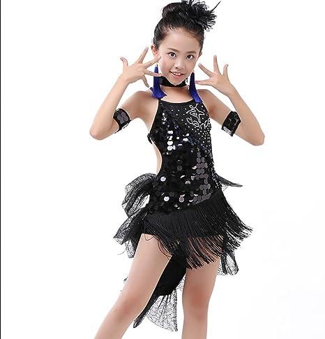 Girls Latin dance costume Latin dance competition clothing