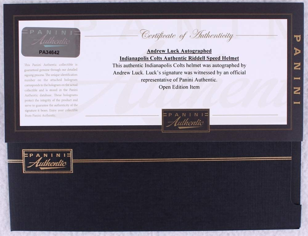 Andrew Luck Indianapolis Colts Signed Autograph Full Size Speed Authentic Proline Helmet Panini Authentic Certified