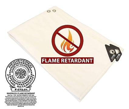 20/' x 30/' WHITE FIRE RETARDANT HEAVY DUTY 12 mil POLY TARP