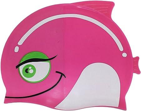 Dianoo para niños impermeable orejeras gorra de baño con alta ...