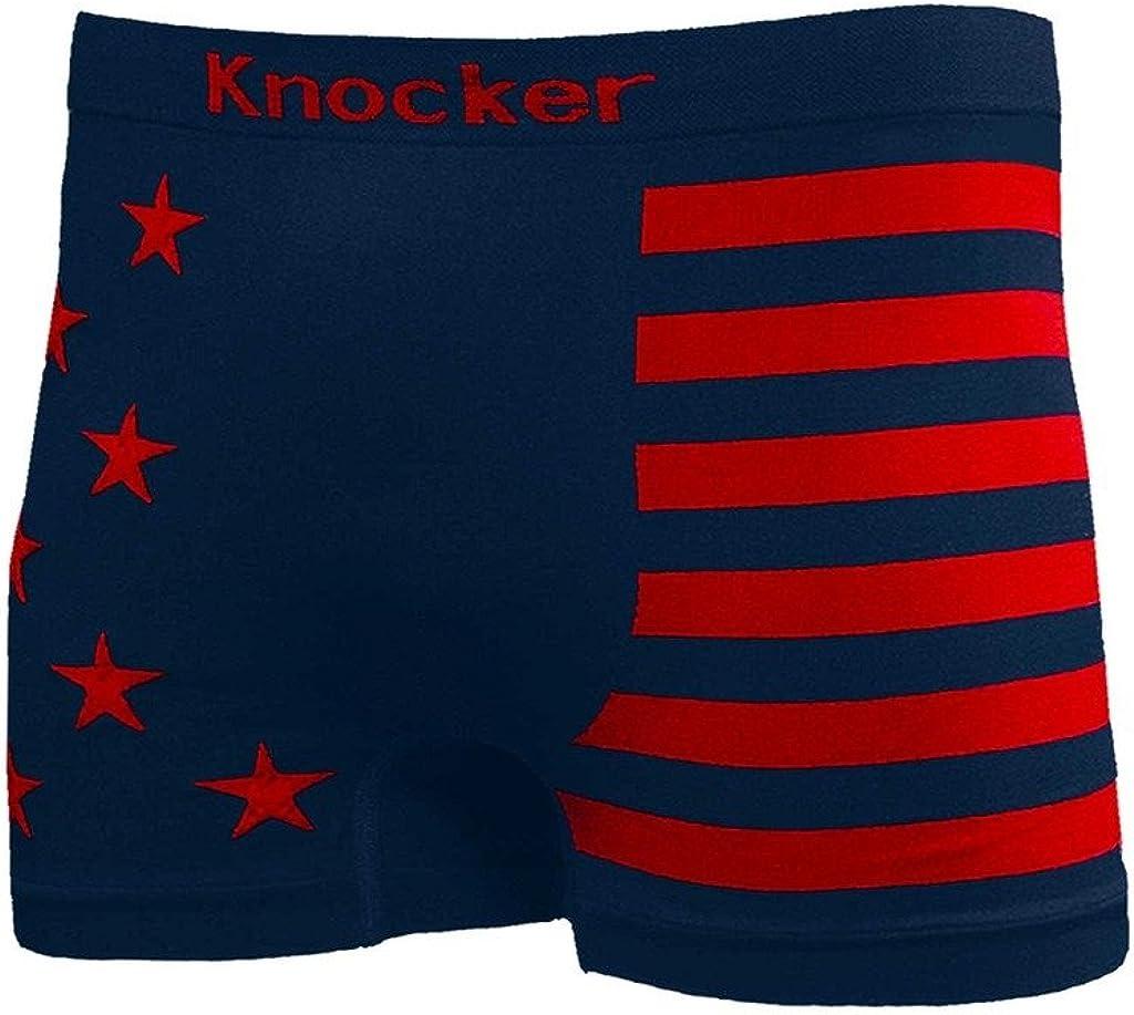 XS-3XL INTERESTPRINT Boxer Briefs Mens Underwear Easter Eggs with American Flag
