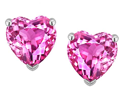 Star K Solid 14k Gold Heart Shape 6mm Earrings Studs