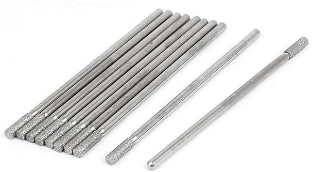 10 St/ück 6 mm Schaft 3 mm Zylinder Kopf Schleifstifte-Bit