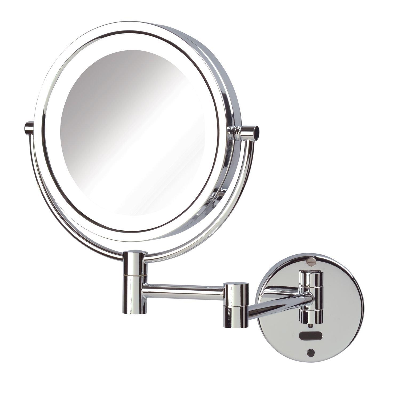 Jerdon Sharper Image LED Lighted Wall Mount Sensor Mirror, Chrome, 4 Pound