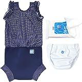 Splash About Happy Nappy Costume Essentials Set (Medium 3-8m, Navy Dot)