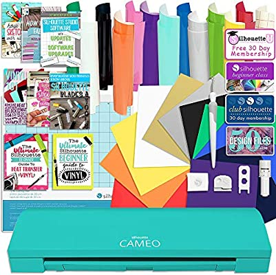 d702d221f Amazon.com  Silhouette Teal Cameo 3 Bluetooth Starter Bundle with 12-12x12  Oracal 651 Sheets