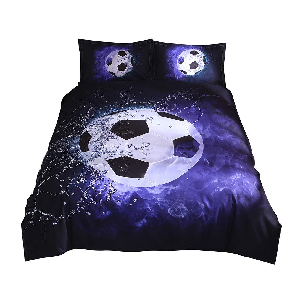 B 260_x_230_cm SFEHEO 3D Printing Football Duvet Cover Sets Teen Boys Bedding Bed Linings