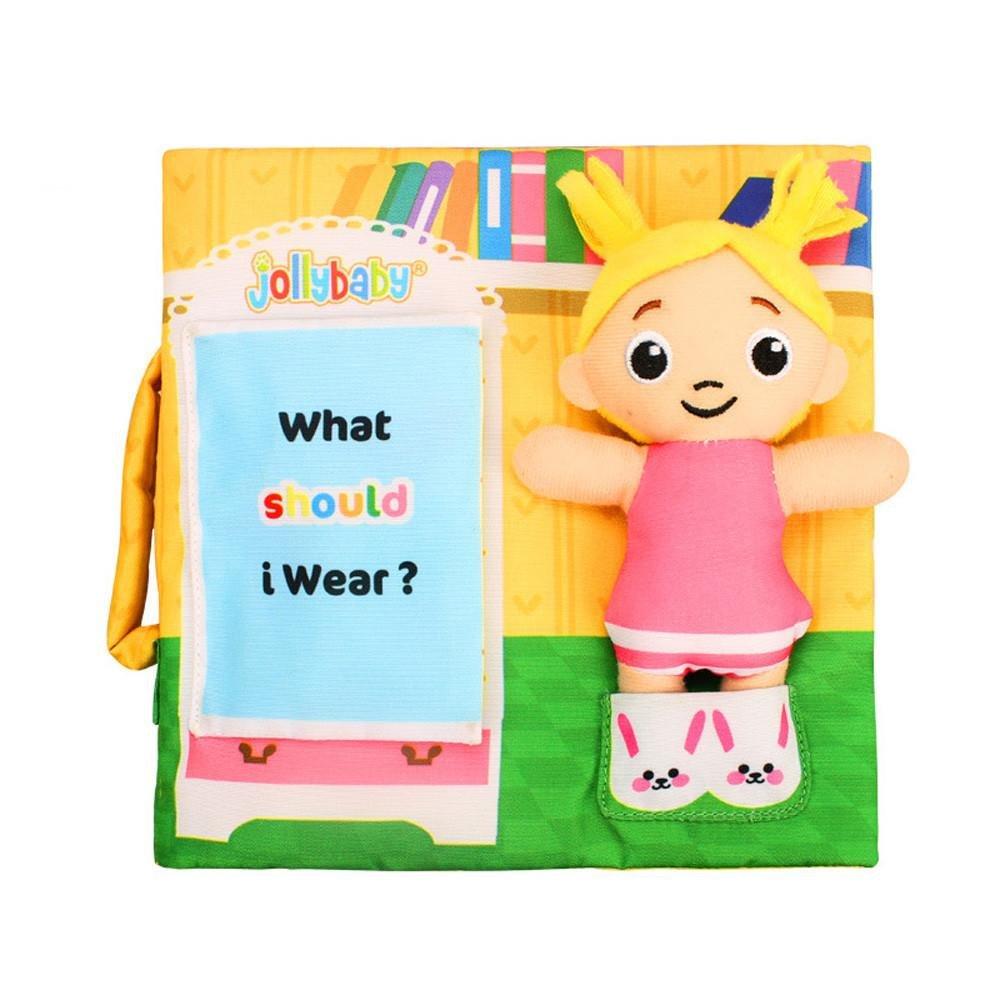 QUICKLYLY Ni/ños Suave Pa/ño Beb/é Inteligencia Desarrollo Aprender Imagen Conocer Libro D