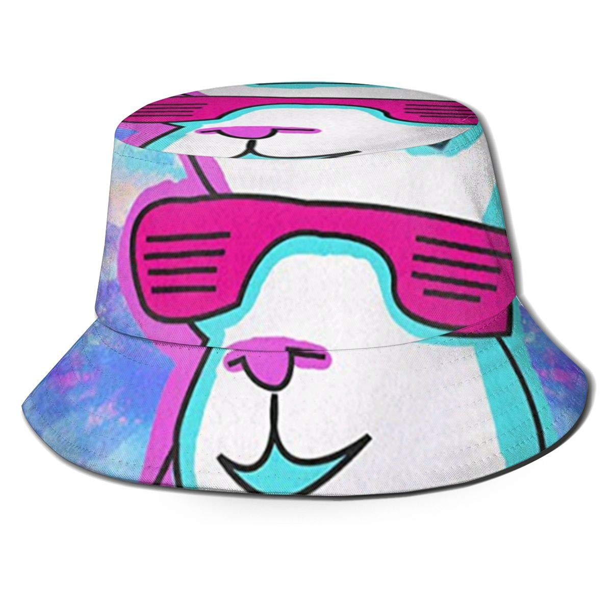 Lama con Gafas de Sol Redondas Sombreros de Copa Transpirables de ...