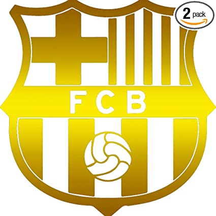 Fc Barcelona Stickers.Angdest Catalonia Fc Barca Fc Barcelona Metallic Gold Set Of 2 Premium Waterproof Vinyl Decal Stickers For Laptop Phone Accessory Helmet Car