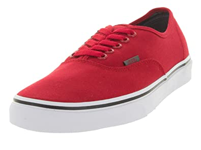 14541a153fcea6 Vans Unisex Authentic (Sport Pop) Skate Shoe Racing Red   Pewter 6 D(