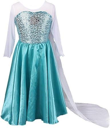 New Fancy Frozen Elsa Snow Queen Costumes Dresses For Kids Cosplay Girl Princess