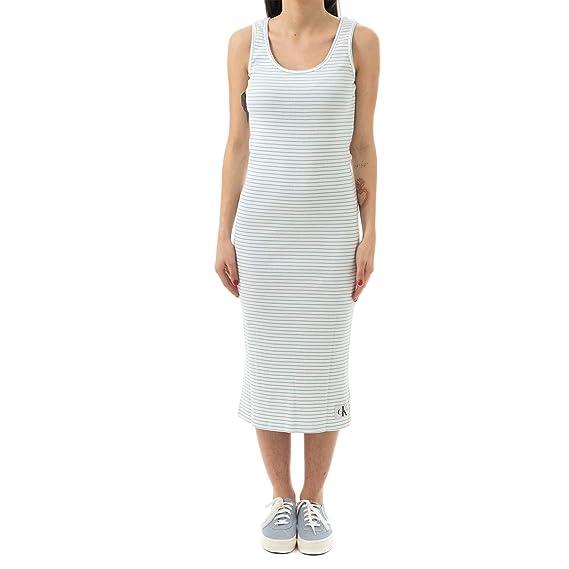 Calvin 401 Tank Klein Dress Femme J20j210391 Robe Rib tCshrdQ