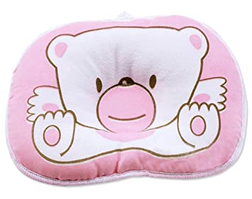 pillow for baby. hot newborn baby boy girl anti-roll pillow flat head sleeping positioner bear for