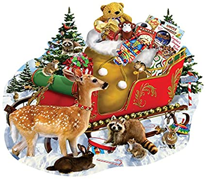 A Stop along the Way 1000 Piece Shaped Jigsaw Puzzle by SunsOut - Christmas Theme