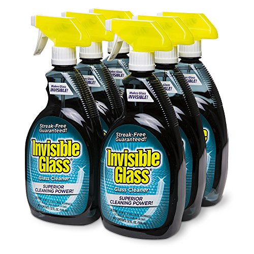 Invisible Glass Premium Glass Cleaner - 32 oz 6 Bottle Pack,
