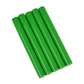 "GlueSticksDirect Green Colored Glue Sticks 7//16/"" X 4/""   5 sticks  11mm x 102mm"